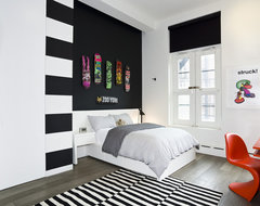 Greene Street Loft contemporary bedroom
