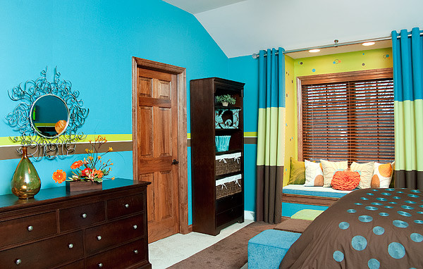 Teen Bedroom - Paint techniques - Contemporary - Bedroom ... on Teenager Basement Bedroom  id=92235