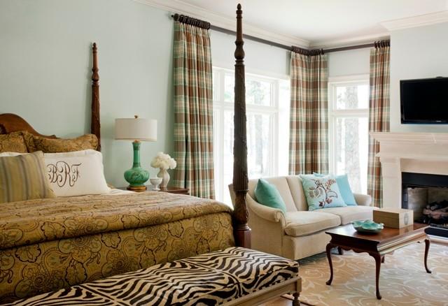 Example of a trendy bedroom design in Little Rock
