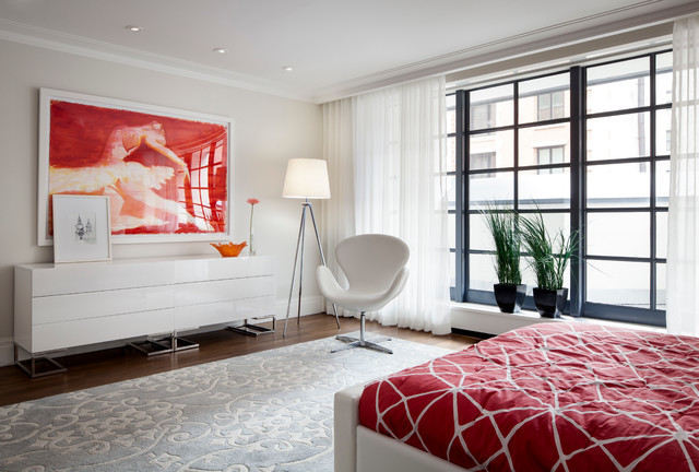 The Tall Townhouse contemporary-bedroom