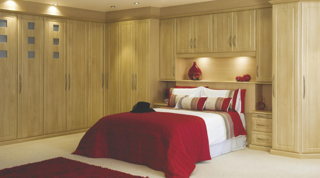 Contemporary beech modular bedroom furniture system for Modular bedroom furniture