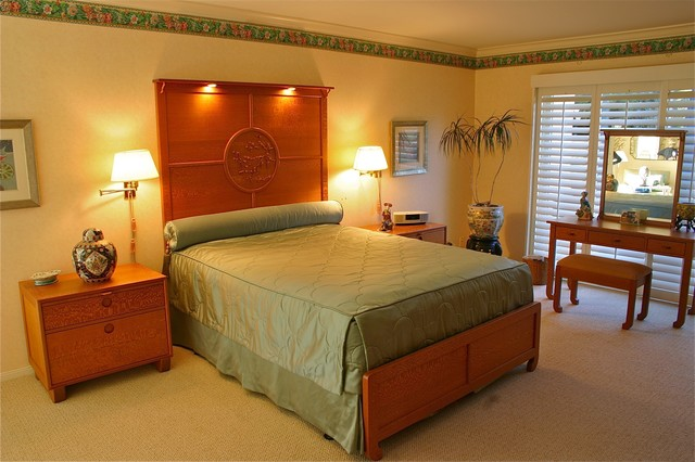 Contemporary Chinese Bedroom asian-bedroom