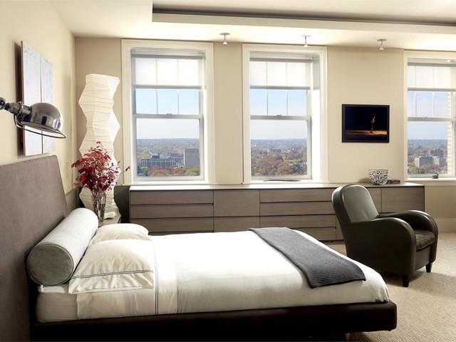 Contemporary Condo contemporary-bedroom