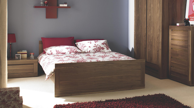 Contemporary Dark Wood Free Standing Bedroom Furniture Contemporary Bedroom Other Metro
