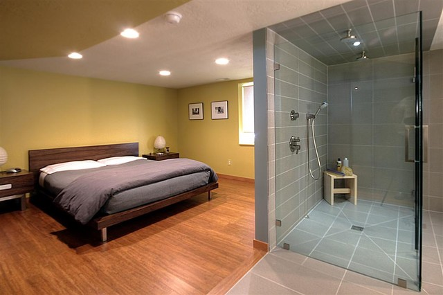 Contemporary master suite contemporary bedroom salt for Master bathroom suite designs