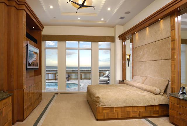 Contemporary Intracoastal Home contemporary-bedroom