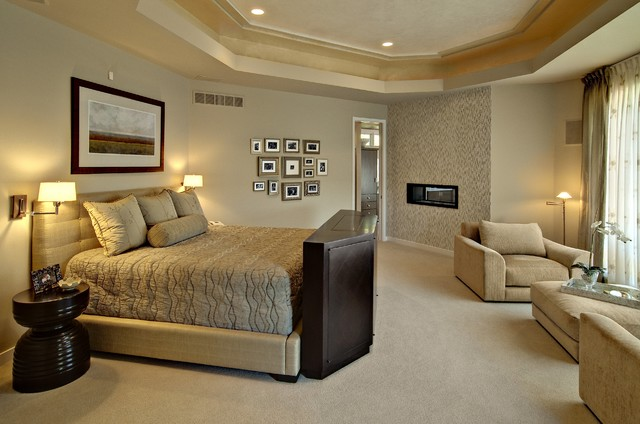 Contemporary master bedroom contemporary bedroom minneapolis by design by lisa Master bedroom ideas houzz