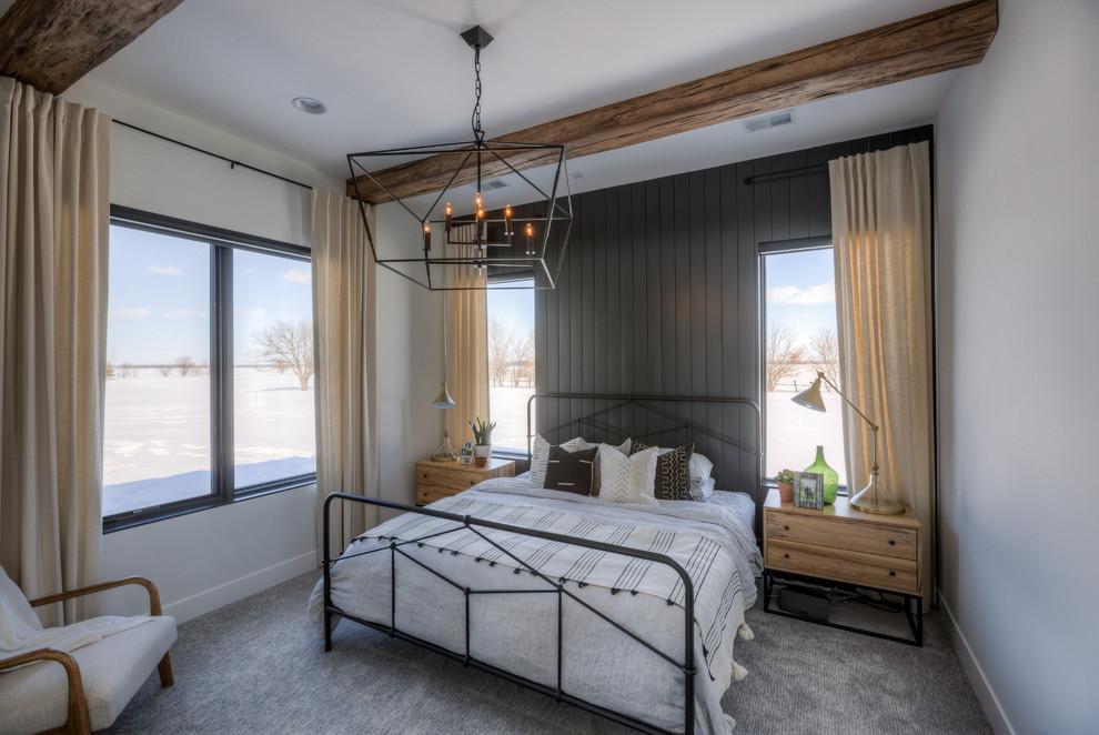 Farmhouse bedroom photo in Omaha