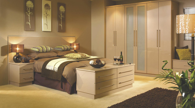 Contemporary Oak Modular Bedroom Furniture System - Contemporary ...