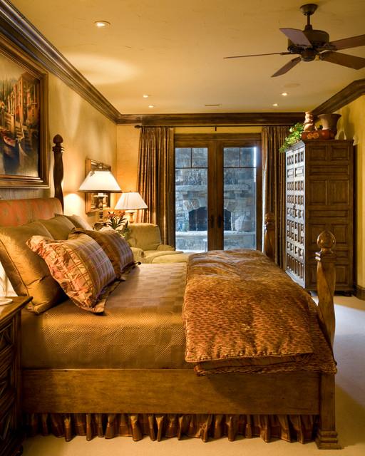 Contemporary Prairie Style Mediterranean Bedroom