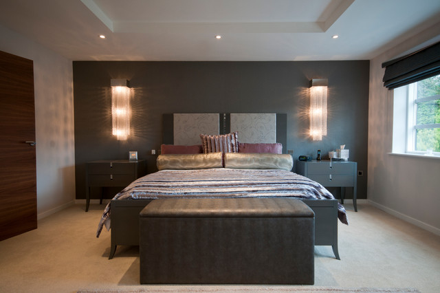 Contemporary property in Cheshire contemporary-bedroom