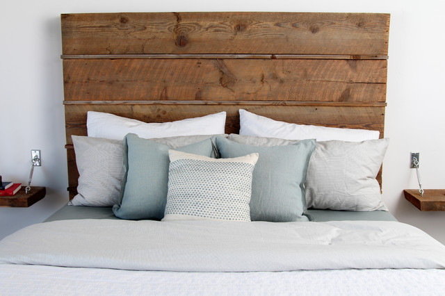 Contemporary Reclaimed Wood Bed with Storage - Contemporary - Bedroom ...