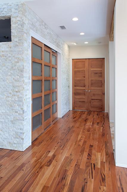 Contemporary Rustic Doors   Master Bedroom Entry Contemporary Bedroom