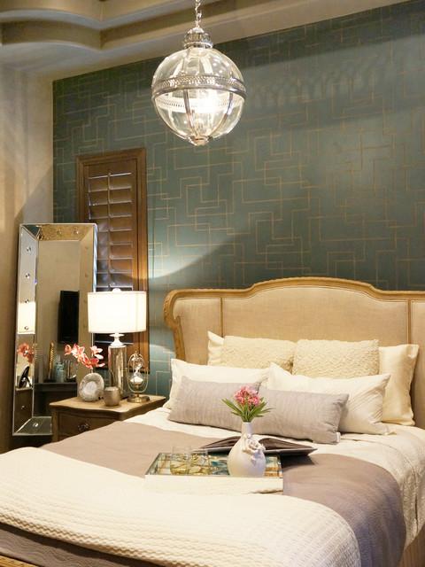 Contemporary Rustic Glam Contemporary Bedroom Las