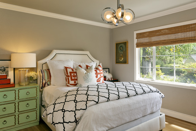 Contemporary Transitional Eclectic Guest Room / Office ...