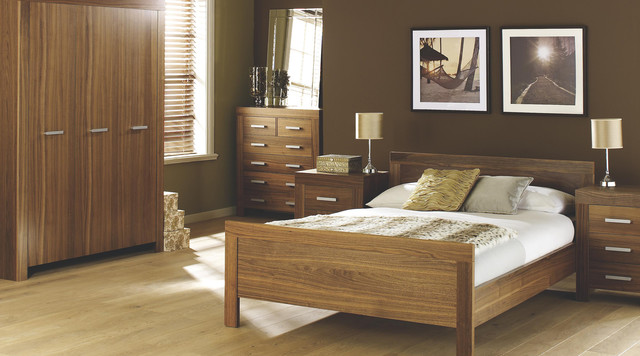 contemporary walnut bedroom furniture contemporary bedroom other