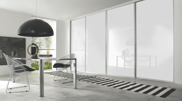 Contemporary White Gloss Sliding Wardrobe Doors - Contemporary - Bedroom - other metro - by B&Q