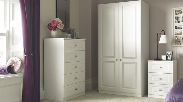 Contemporary White Shaker Style Bedroom Furniture - Contemporary ...