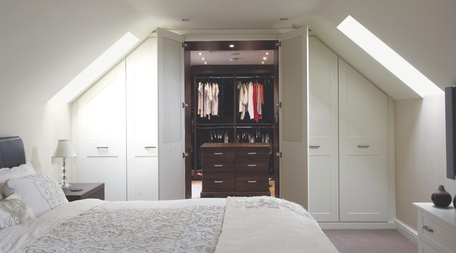White Shaker Style Built In Bedroom Furniture Contemporary Bedroom