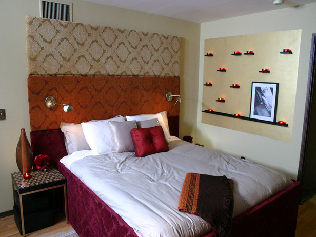 cool headboard eclectic-bedroom