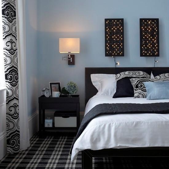 Wall Lights Eclectic Bedroom