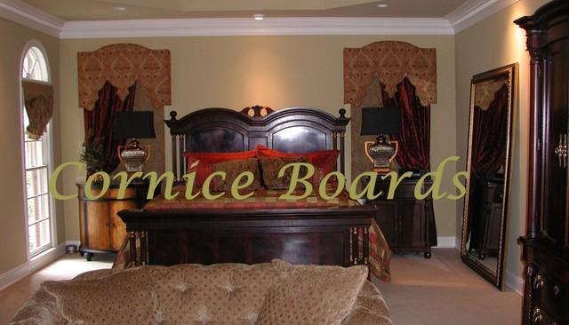 Cornice Boards eclectic-bedroom