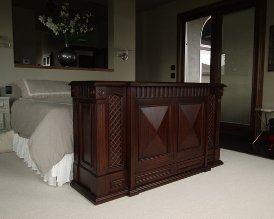 Motorized TV Cabinet Bedroom Design Ideas, Pictures, Remodel and Decor