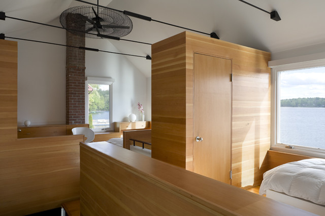 Cottage Sleeping Lofts contemporary-bedroom
