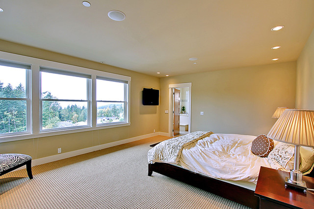 Cougar Mountain Custom Home contemporary-bedroom