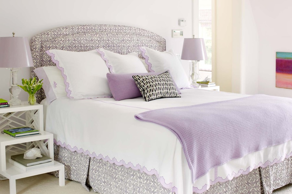Bedroom - traditional bedroom idea in New York with white walls