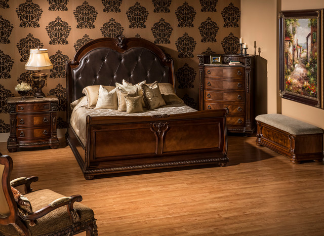 Bedroom Sets El Dorado coventry tobacco bedroom set - traditional - bedroom - miami -
