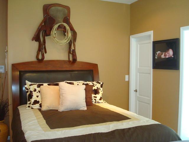 Cowboy Bedroom Eclectic Bedroom
