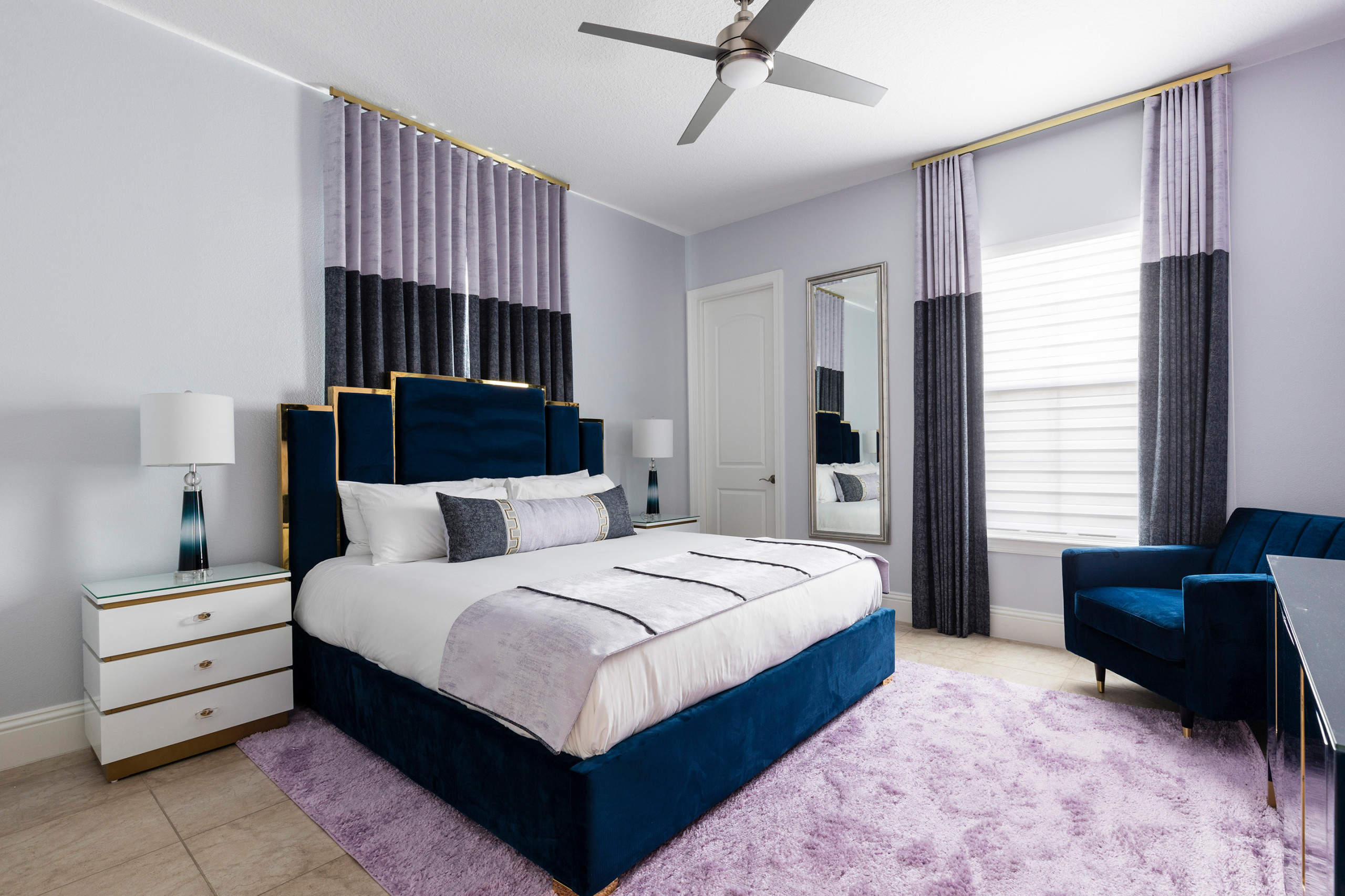 75 Beautiful Bedroom With Purple Walls Pictures Ideas July 2021 Houzz