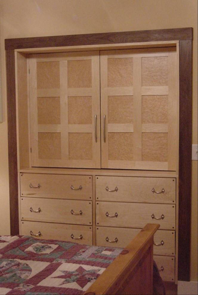 Craftsman Home Built In Dresser Traditional Bedroom