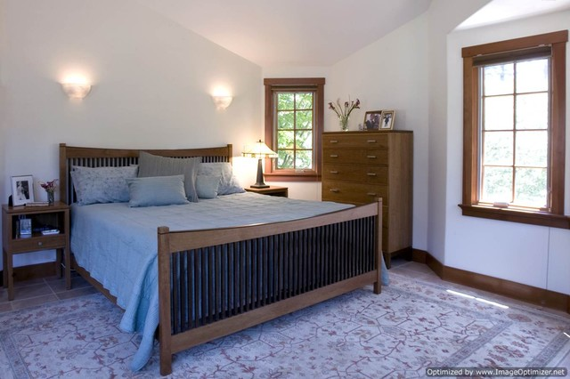 Craftsman style home traditional bedroom san for Craftsman style rooms