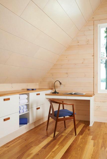Crane Island Cabin modern-bedroom