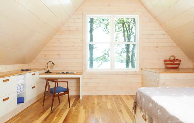 Crane Island Cabin rustic-bedroom