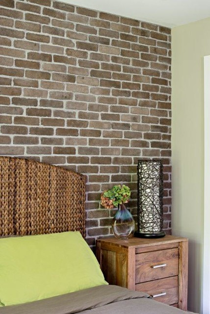 Creating An Exposed Brick Wall With Brick Veneer Modern