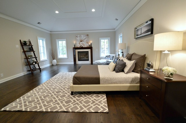 Crestmount master bedroom contemporary bedroom new york by elite staging and redesign llc Master bedroom home staging