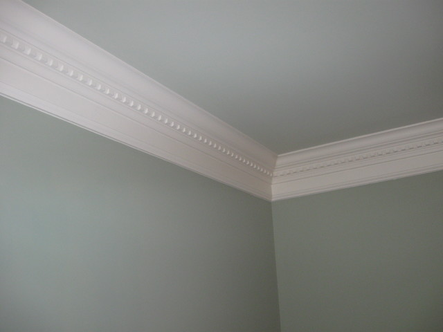 Crown Molding Contemporary Bedroom