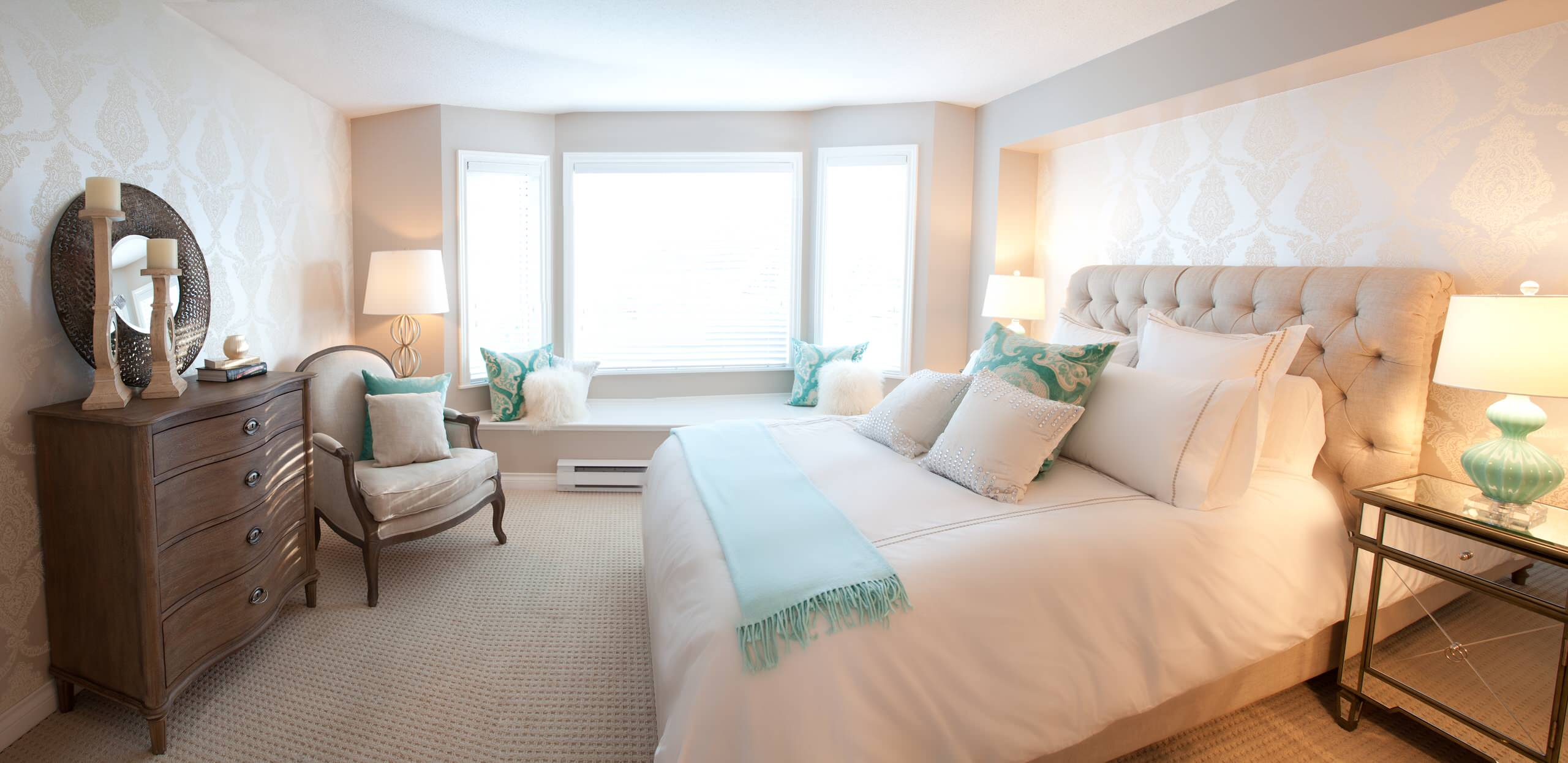 Peach And Turquoise Bedrooms Houzz