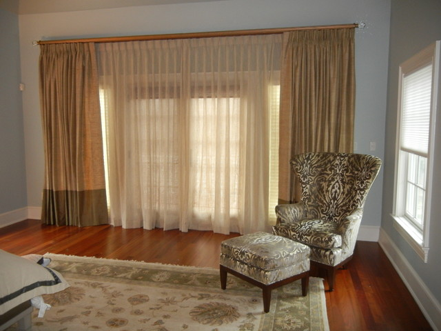 Curtains transitional bedroom new york by classic for Passarelli custom homes