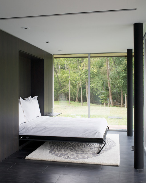 Curved House modern bedroom