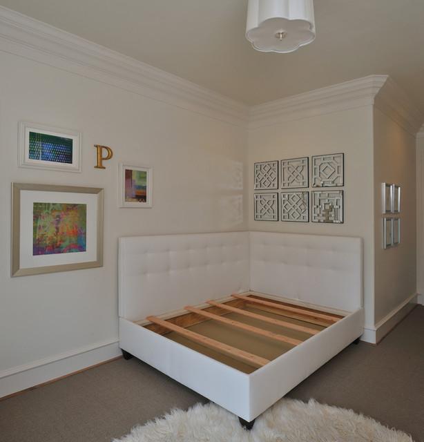 Creative apartment design : Custom Bed traditional bedroom houston