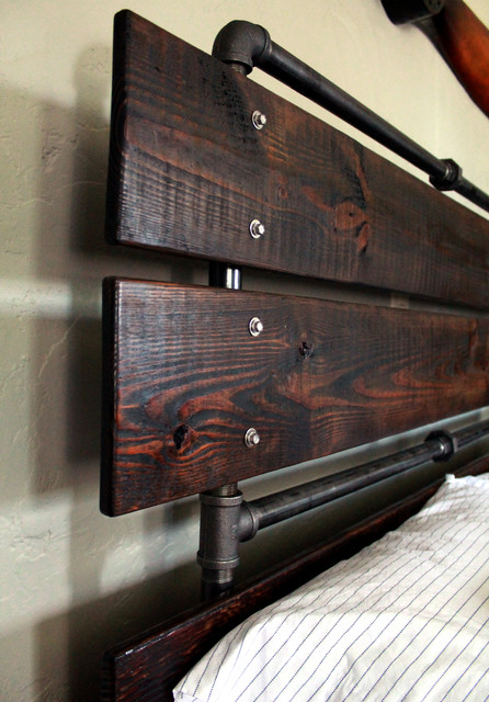 Custom Bed Frames With Reclaimed Wood Craftsman Bedroom Columbus By Grw Construction
