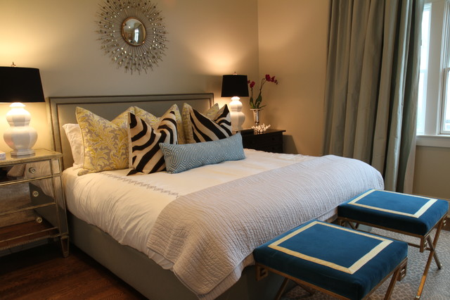 Custom Bedding, Drapes, Upholstery, and Pillows contemporary-bedroom