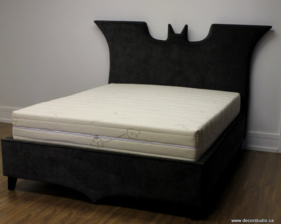 Custom Beds and Headboards - Custom made queen size batman bed.  Photo cred: Decor Studio