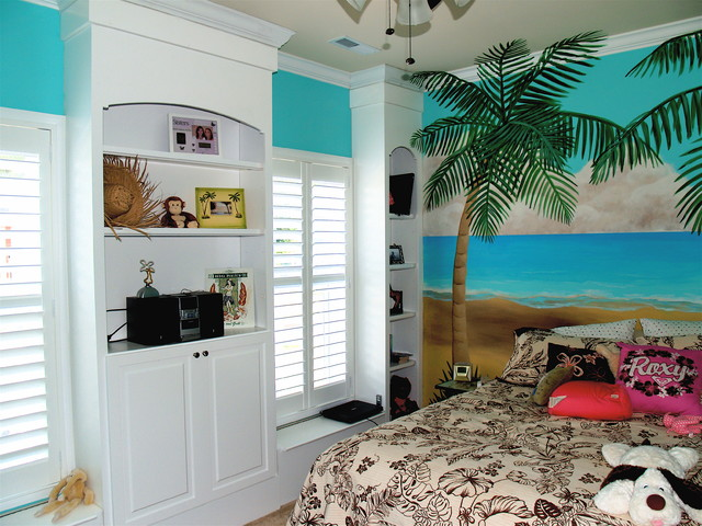 Custom Bookcases - Tropical - Bedroom - Boston - by Showroom Partners