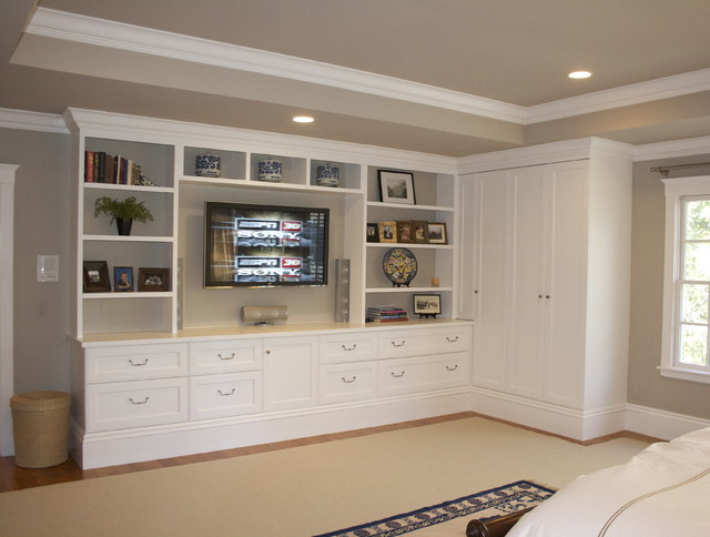 Custom built in contemporary bedroom san francisco for Design of master bedroom cabinet