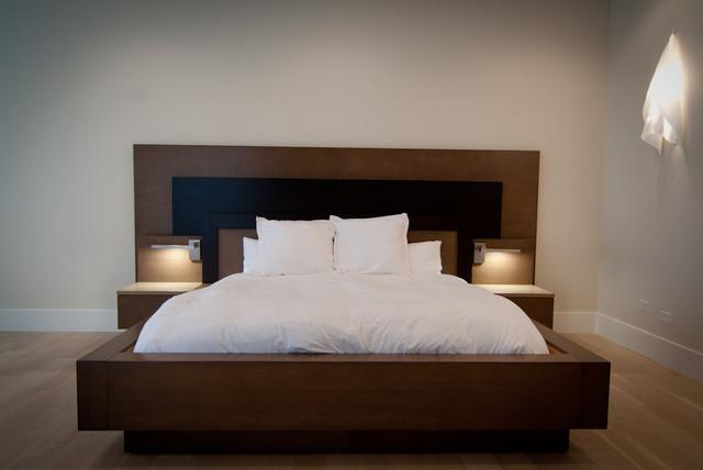 Custom Built Master Bed Frame contemporary-bedroom